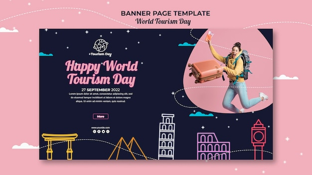 World tourism day banner template