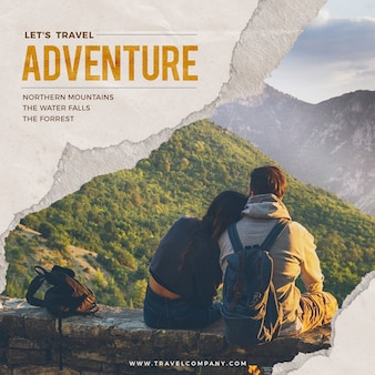 World travel adventure пост в социальных сетях 2020
