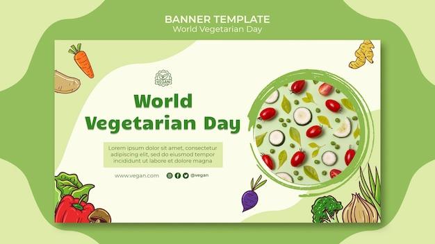 World vegetarian day banner template Free Psd