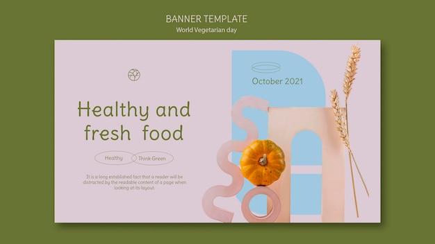 World vegetarian day banner template