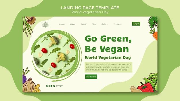 World vegetarian day landing page template