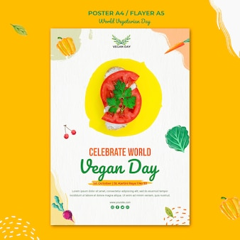 World vegetarian day poster template