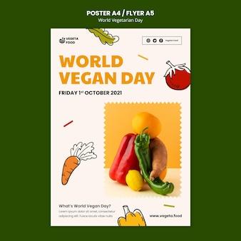세계 채식의 날 인쇄 템플릿