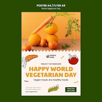 World vegetarian day print template