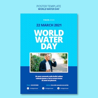 World water day poster template