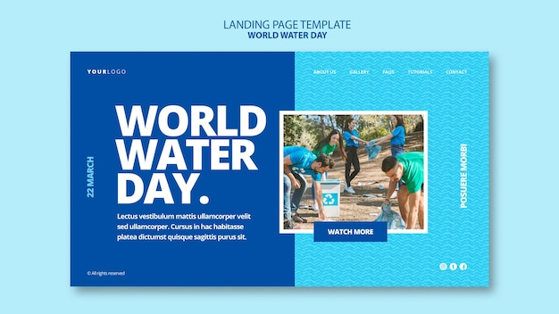 World water day web template