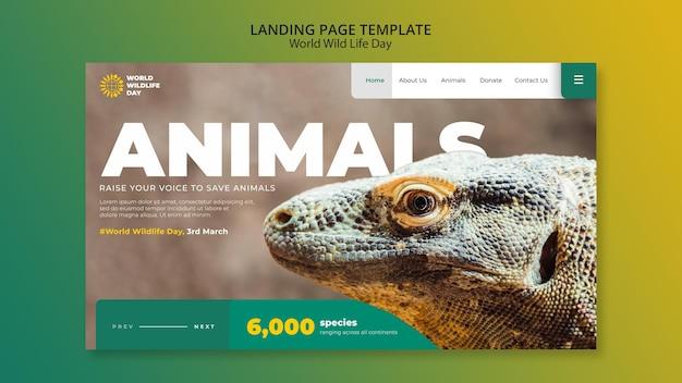 世界野生生物の日ウェブテンプレート 無料 Psd