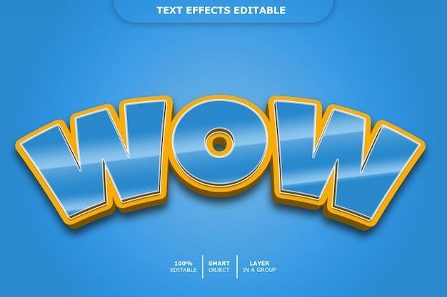Текстовый эффект wow
