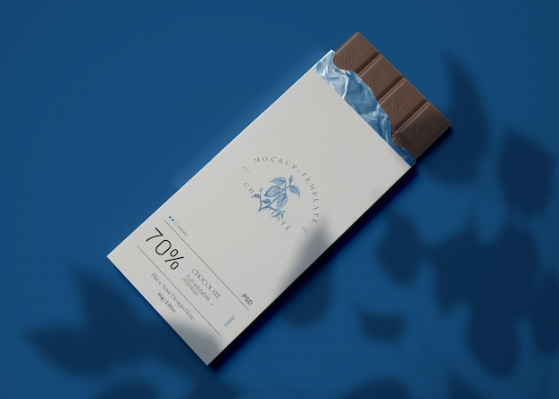 ラップされたチョコレートのモックアップ