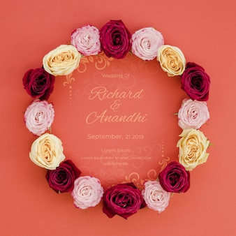 Wreath of roses save the date