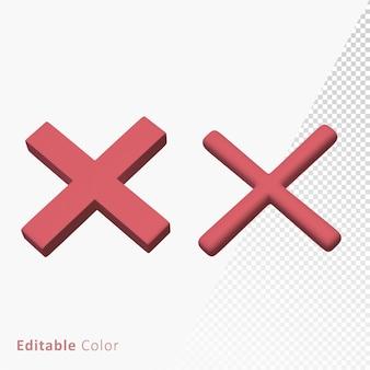 Wrong cross mark 3d symbol premium psd Premium Psd