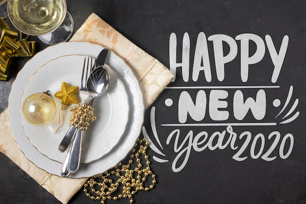 新年あけましておめでとうございますコンセプトwthモックアップ