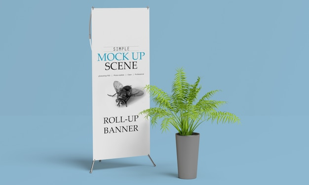X-banner or roll up stand mockup