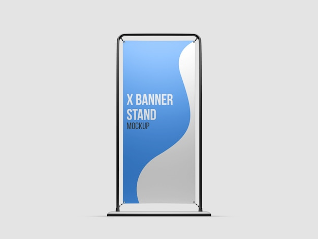 X-banner stand mockup isolated