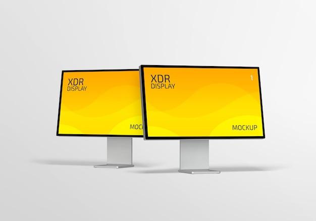Изолированный дизайн макета дисплея xdr