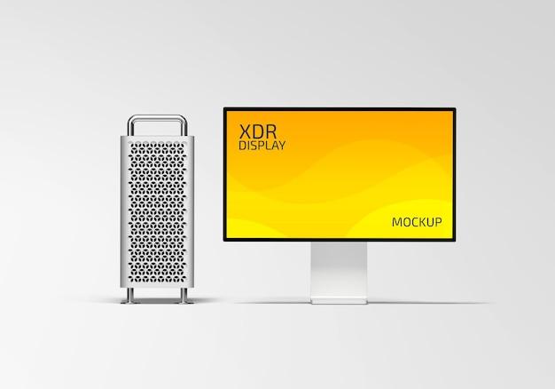 Xdr display mockup design isolated