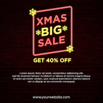 Xmas big sale square banner