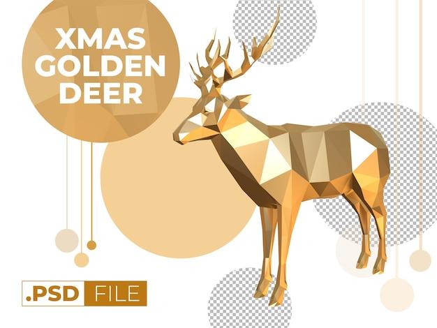 크리스마스 황금 사슴 모형