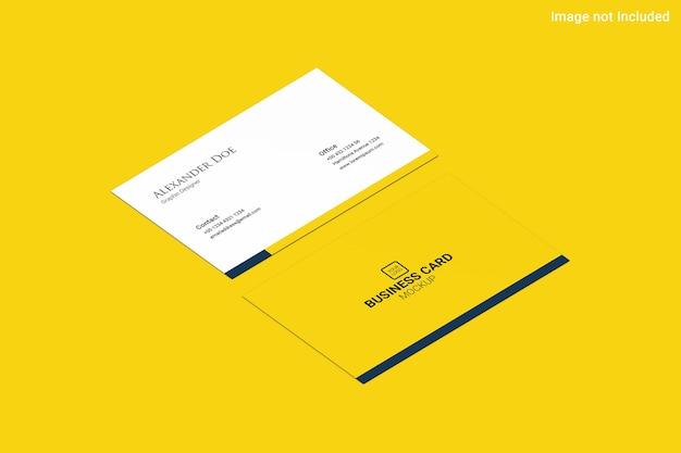黄色の名刺モックアップ