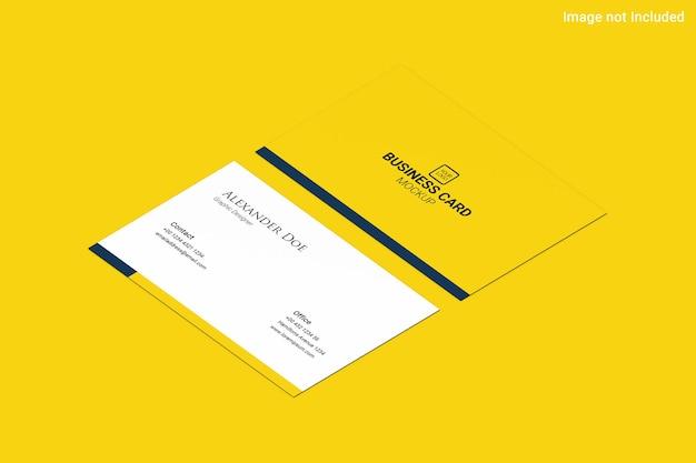 노란색 명함 모형