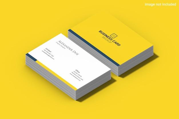 Yellow business card mockup
