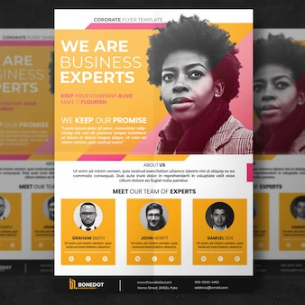 Yellow corporate flyer template