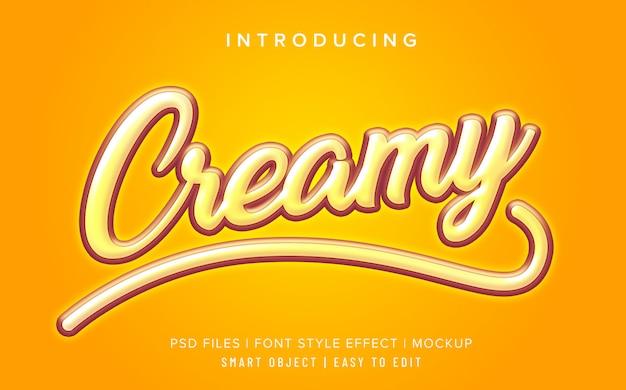 Yellow creamy font style effect mockup