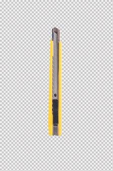흰색 배경에 고립 된 노란색 커터