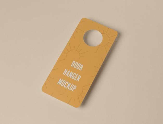 Yellow door hanger for privacy