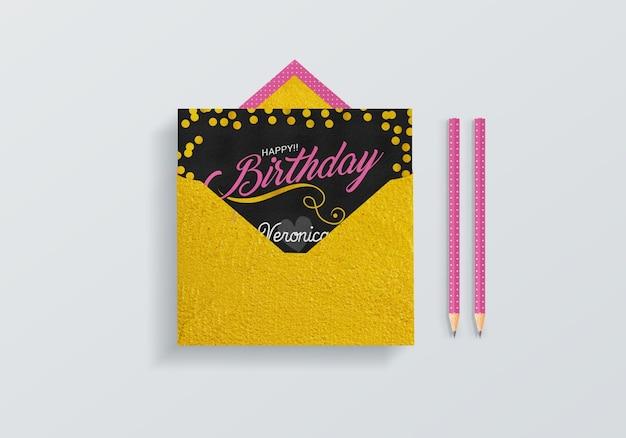 Yellow envelope mock up