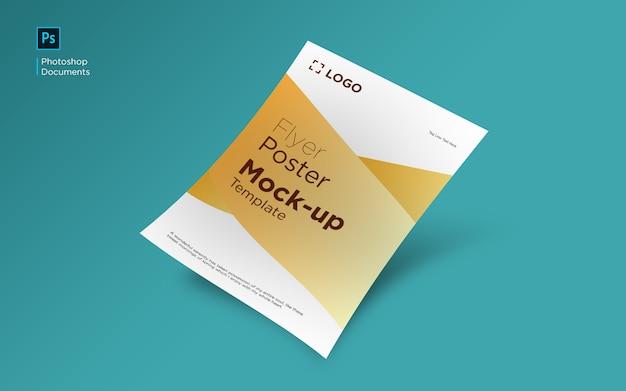 Yellow flyer mockup design template