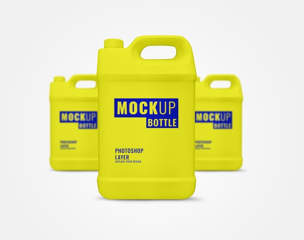 Yellow gallon mockup