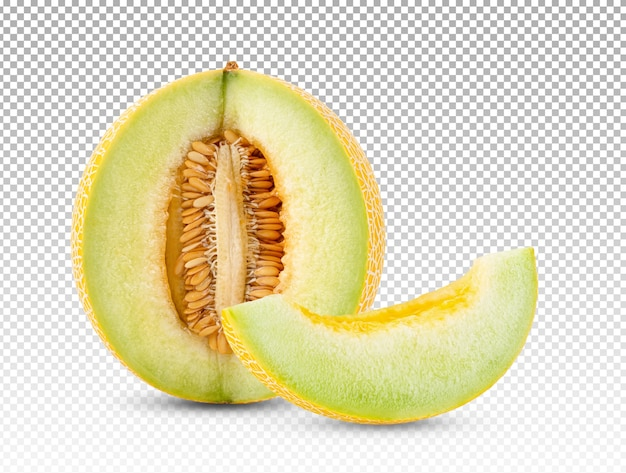 Yellow melon isolated
