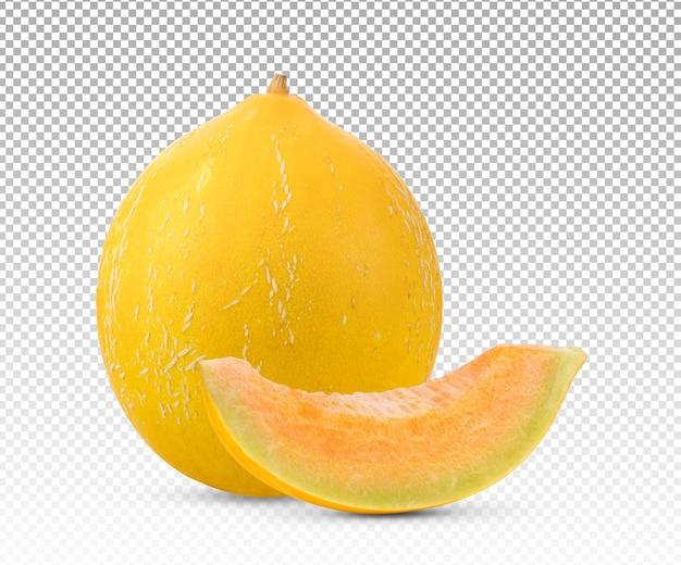 Yellow melon ripe fruit isolated