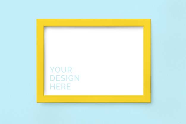 Yellow picture frame mockup