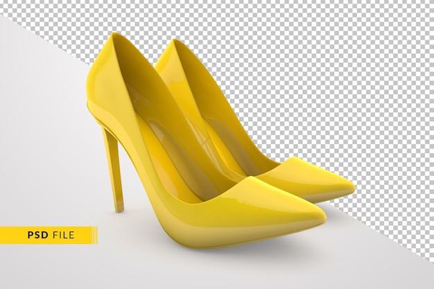 3dレンダリングデザインの黄色い靴