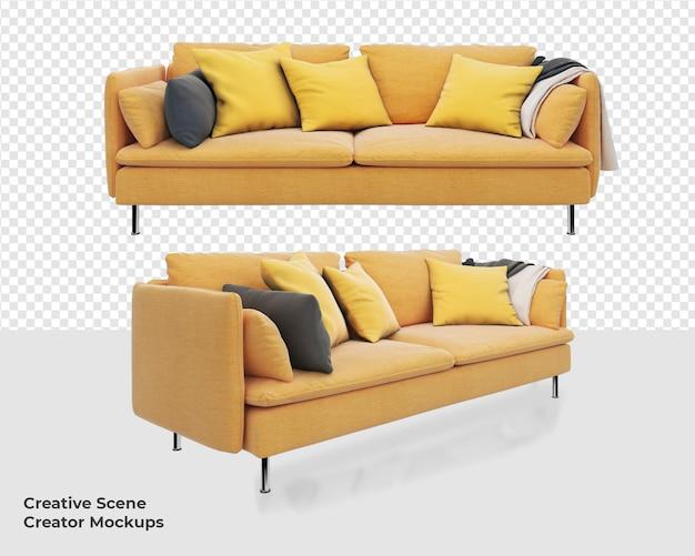 Желтый диван кресло дизайн украшения