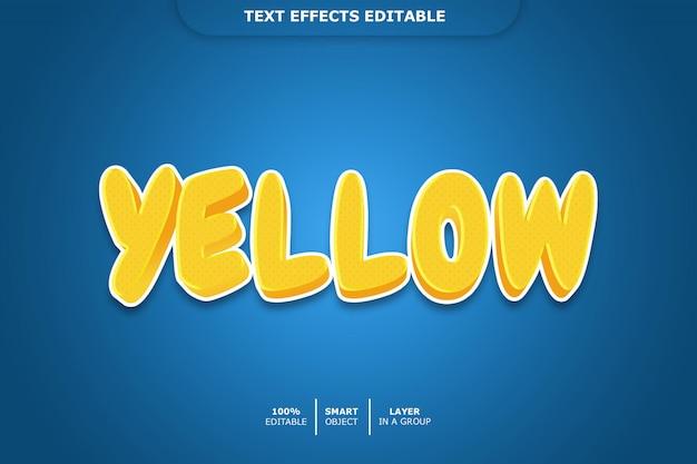 編集可能な黄色のテキスト効果