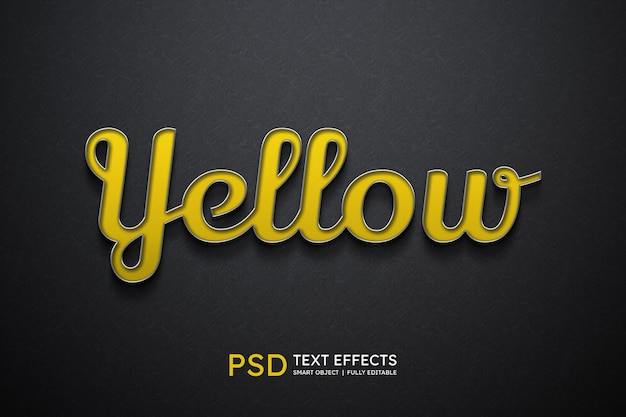 Yellow text style effect