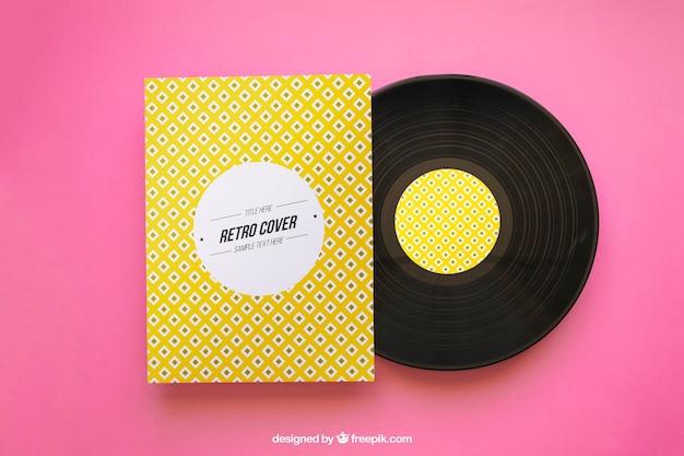 Yellow vinyl mockup