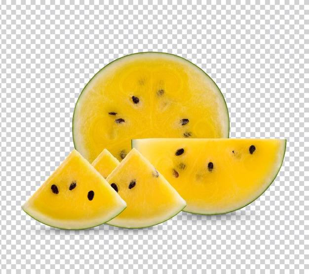 Желтый арбуз изолирован