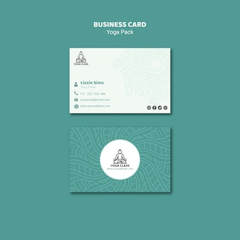 Yoga business card concept
