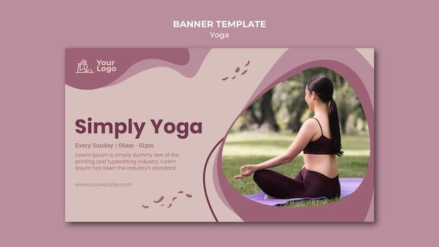Шаблон баннера класса йоги
