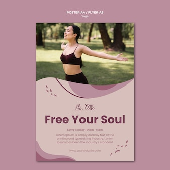 Yoga class poster template
