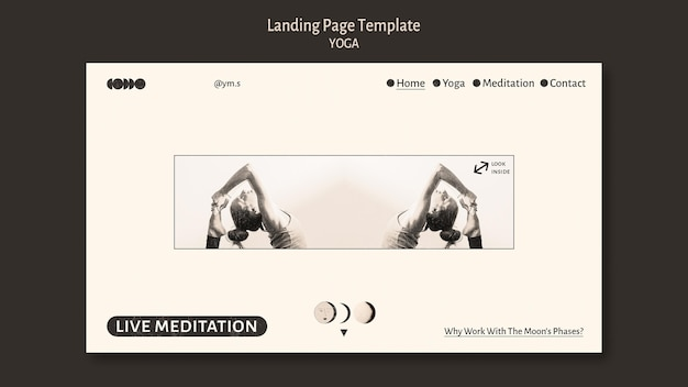 Yoga colorless design landing page template