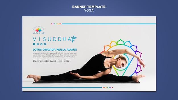 Yoga concept banner template