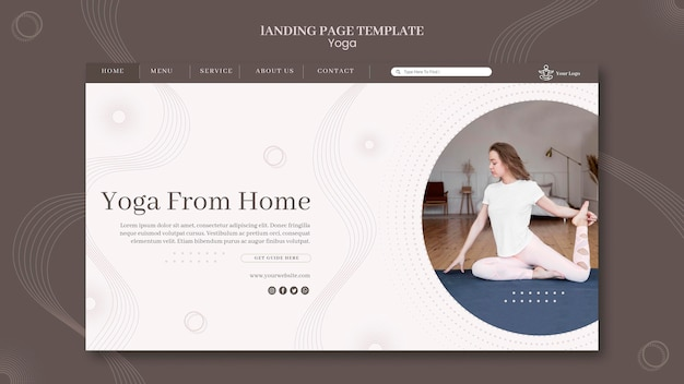Yoga concept landing page template