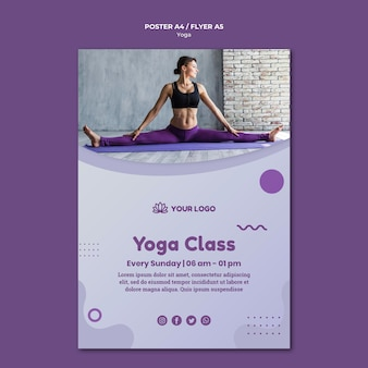 Stile poster concetto di yoga
