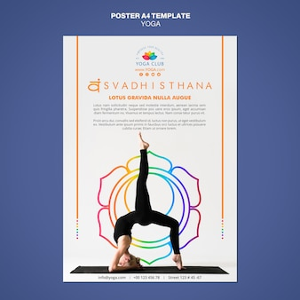 Yoga concept poster template