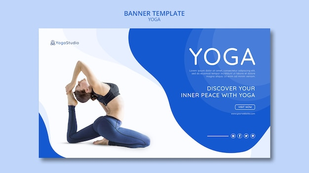 Йога фитнес шаблон для баннера